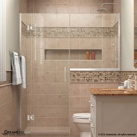 "DreamLine Unidoor-X 53"" to 60-1/2""W Hinged Shower Door with 24"" Wide Buttress Panel D53BUTTRESS"