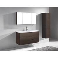 "Madeli Bolano 48"" Bathroom Vanity for Quartzstone Top - Walnut B100-48-002-WA-QUARTZ"