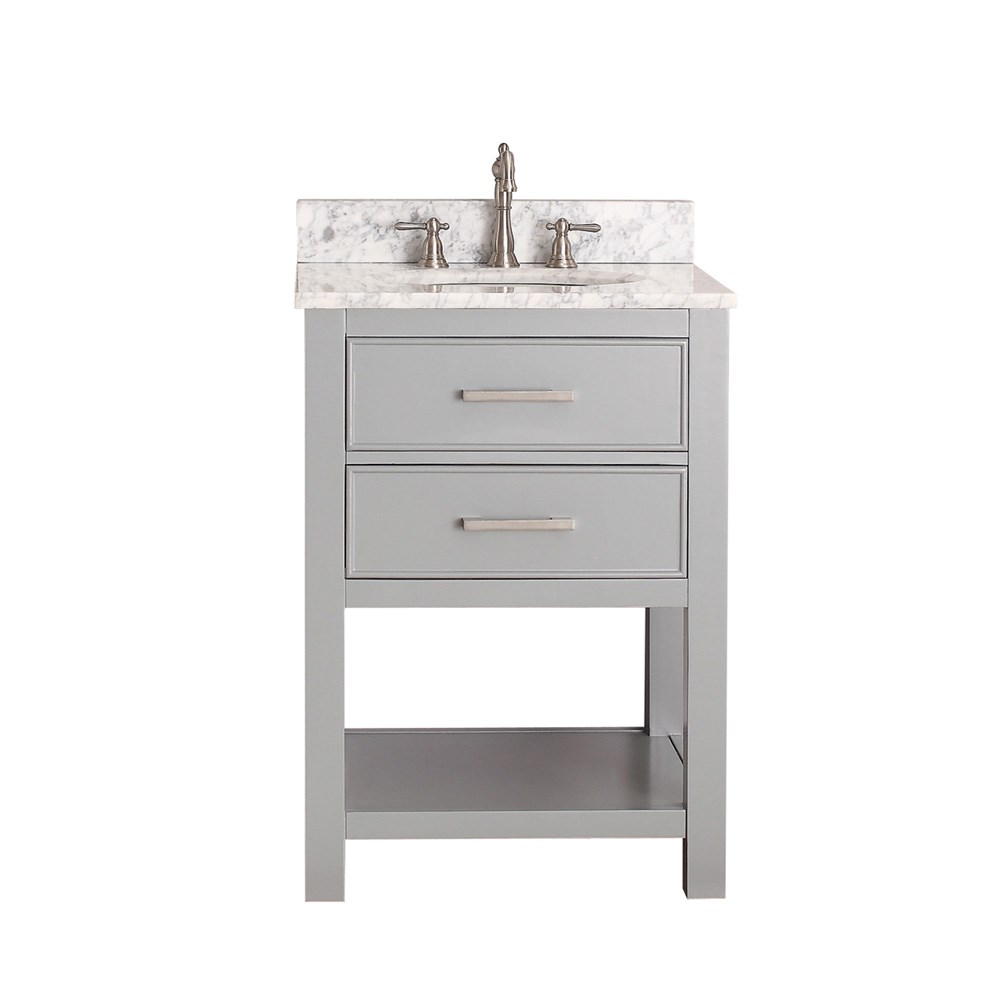 "Avanity Brooks 24"" Single Bathroom Vanity with Countertop - Chilled Gray BROOKS-24-CG"