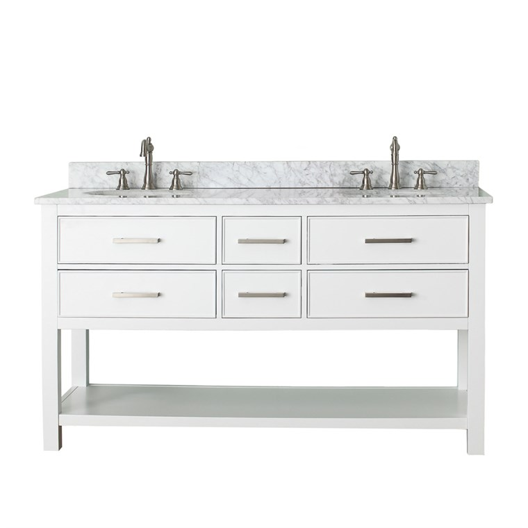 "Avanity Brooks 60"" Double Bathroom Vanity - White BROOKS-60-WT"