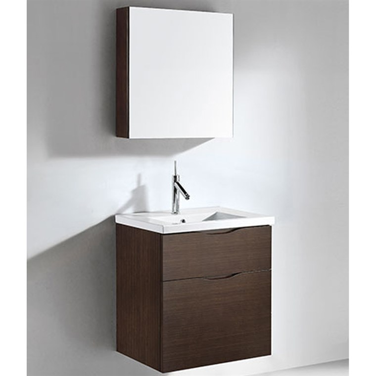 "Madeli Bolano 24"" Bathroom Vanity for Integrated Basin - Walnut B100-24-022-WA"