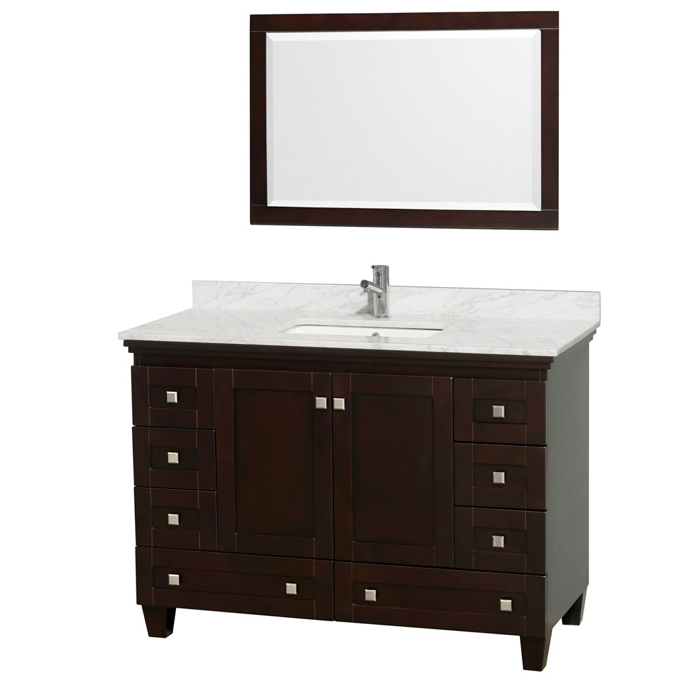 Acclaim 48 inch Single Bathroom Vanity by Wyndham Collection Espresso