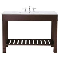"Avanity Loft 48"" Single Modern Bathroom Vanity Set - Dark Walnut LOFT-VS48-DW"