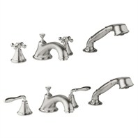 Grohe Seabury 4-Hole Roman Tub Filler - Infinity Brushed Nickel