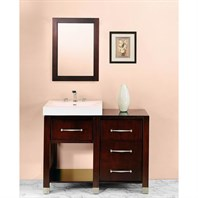 "Fairmont Designs Midtown 44"" Modular Open Shelf Vanity and Sink Set- Espresso 145-V2418A_145-DB1818_145-LEG"