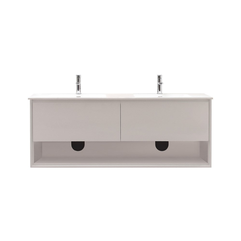 "Avanity Sonoma 63"" Wall-Mounted Double Bathroom Vanity - Whitenohtin Sale $1292.00 SKU: SONOMA-63-WT :"