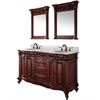 "Eleanor 60"" Double Bathroom Vanity by Wyndham Collection - Cherry WC-9016-60-CH"