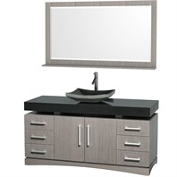 "Monterey 60"" Bathroom Vanity Set by Wyndham Collection - Gray Oak WC-CG6000-60-GROAK"
