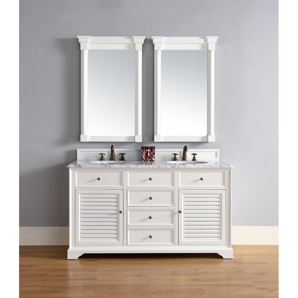 James Martin 60 Savannah Double Vanity Cottage White Free Shipping Modern Bathroom