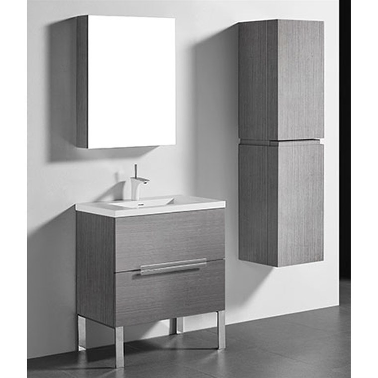"Madeli Soho 30"" Bathroom Vanity for Integrated Basin - Ash Grey B400-30-001-AG"