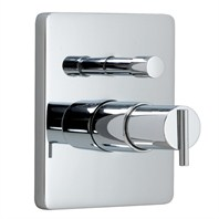 JADO Glance Pressure Balance Tub & Shower Valve Trim - Lever Handle
