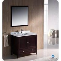 "Fresca Oxford 36"" Traditional Bathroom Vanity - Mahogany FVN2036MH"