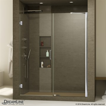 "Bath Authority DreamLine Unidoor Frameless Hinged Shower Door, 47""- 55"" SHDR-20477210C by Bath Authority DreamLine"