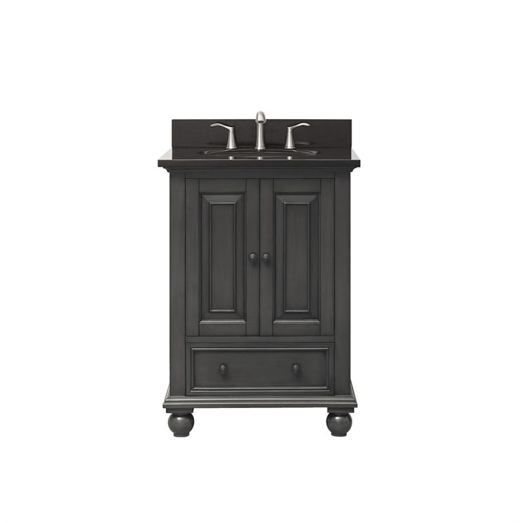 "Avanity Thompson 24"" Single Bathroom Vanity with Countertop - Charcoal Glaze THOMPSON-VS24-CL"