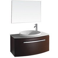 "Allura 40"" Modern Bathroom Vanity Set by Wyndham Collection - Iron Wood WC-V18029-39-IR"
