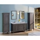 "Fairmont Designs Rustic Chic 60"" Vanity-Double Bowl - Silvered Oak 143-V6021D"