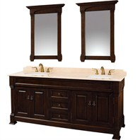 "Andover 72"" Traditional Bathroom Double Vanity Set by Wyndham Collection - Dark Cherry WC-TD72-DKCHRY"
