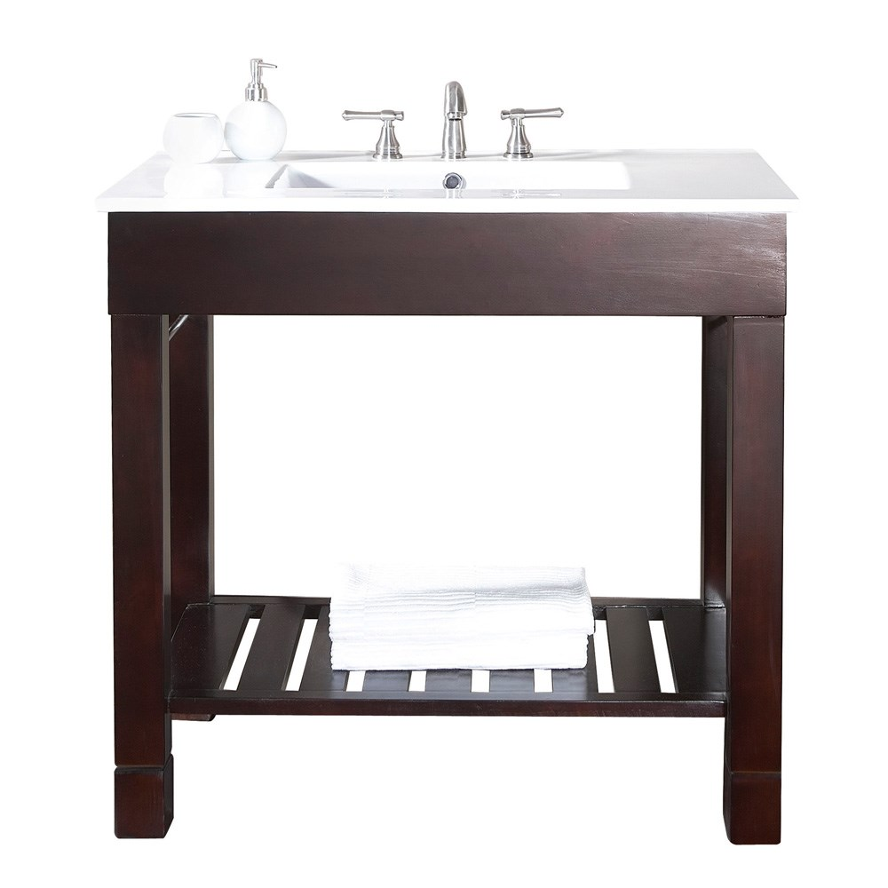 "Avanity Loft 36"" Single Modern Bathroom Vanity Set - Dark Walnutnohtin Sale $894.20 SKU: LOFT-VS36-DW :"