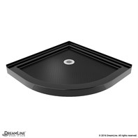 "Bath Authority DreamLine SlimLine Neo Shower Base (38"" by 38"") - Black DLT-2038380-88"