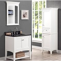 "Fairmont Designs Shaker Americana 30"" Vanity - Open Shelf for 1-1/4"" Thick Top - Polar White 1512-VH30--"