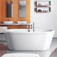 "Americh International Nouveau Flat Top Freestanding Bathtub - White (69"" x 31"" x 24"") NU6931T"