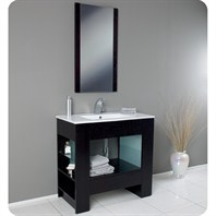 Fresca Egoista Modern Bathroom Vanity with Wenge Wood Finish FVN3005WG
