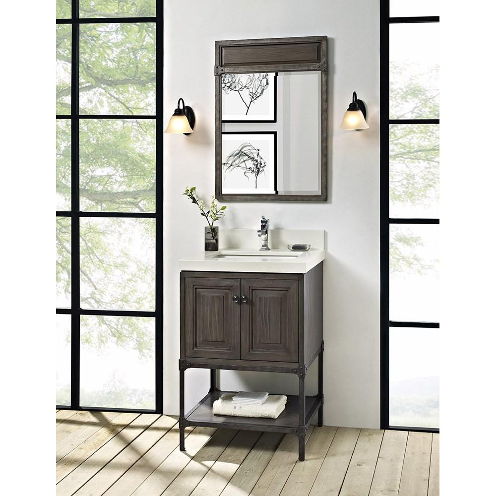 """Fairmont Designs Toledo 24"""" Vanity with Doors for Quartz Top - Driftwood Graynohtin Sale $895.00 SKU: 1401-24 :"""