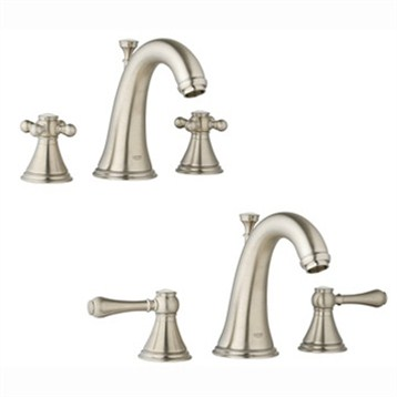 Grohe Geneva Low Spout Lavatory Wideset, Infinity Brushed Nickel by GROHE