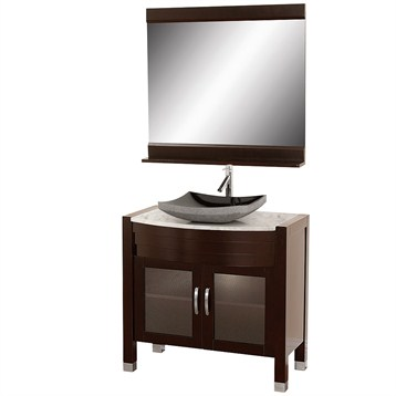 New The CityLoft Collection Sports A Chic Modern Design That Introduces Minimalist Style Into Your Bathroom Without Sacrificing Practicality The City Loft 24 W X 35 H Inch Poplar Wood Framed Mirror Features A Light Espresso Finish, A Convenient