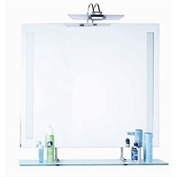 "SLT151 Bathroom Mirror with Glass Shelf (35"" x 28"")"