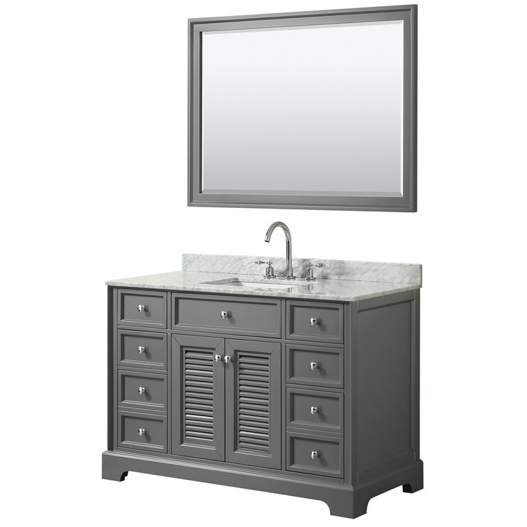 "Tamara 48"" Single Bathroom Vanity by Wyndham Collection - Dark Gray WC-2121-48-SGL-VAN-DKG"