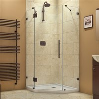 "Bath Authority DreamLine PrismLux Frameless Hinged Shower Enclosure (38-1/4"") SHEN-2238380"