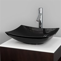 Arista Vessel Sink by Wyndham Collection - Black Granite WC-GS004