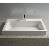TOTO Kiwami™ Renesse™ Design I Vessel Lavatory w/ SanaGloss - Cotton White