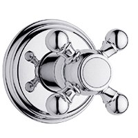 Grohe Geneva Trim Volume Control with Cross Handle, Starlight Chrome by GROHE