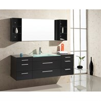 "Virtu USA Columbo 63"" Single Sink Bathroom Vanity - Espresso UM-3089-G-ES"