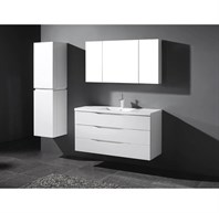 "Madeli Bolano 48"" Bathroom Vanity for X-Stone Top - Glossy White B100-48-002-GW-"