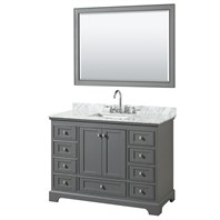 Deborah 48u0026quot; Single Bathroom Vanity By Wyndham Collection   Dark Gray  WC 2020