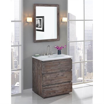 "Fairmont Designs Acacia 30"" Vanity for Integrated Top, Organic Brown 1522-V30- by Fairmont Designs"