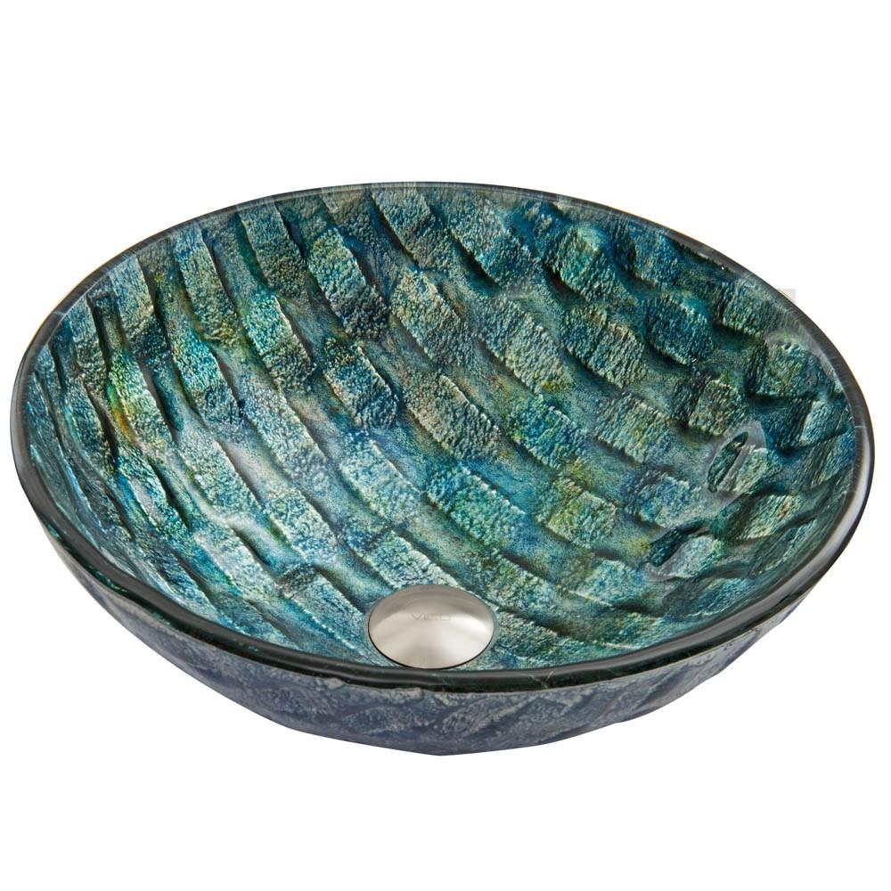 VIGO Oceania Glass Vessel Sinknohtin Sale $109.90 SKU: VG07049 :