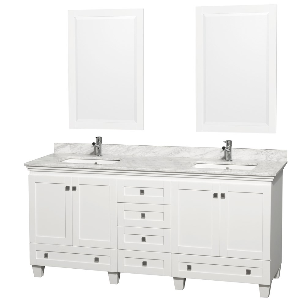 Acclaim 72 in. Double Bathroom Vanity by Wyndham Collection - White ...