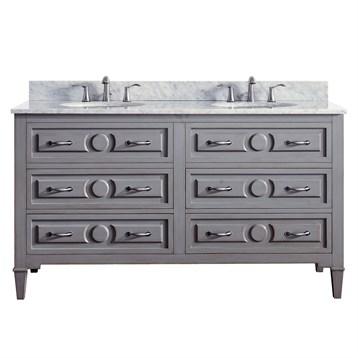 "Grayish Blue avanity kelly 60"" double bathroom vanity - grayish blue | free"