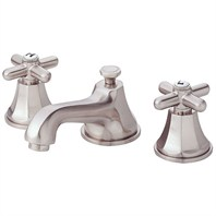 Danze® Brandywood™ Widespread Cross Handle Lavatory Faucets - Brushed Nickel D304966BN