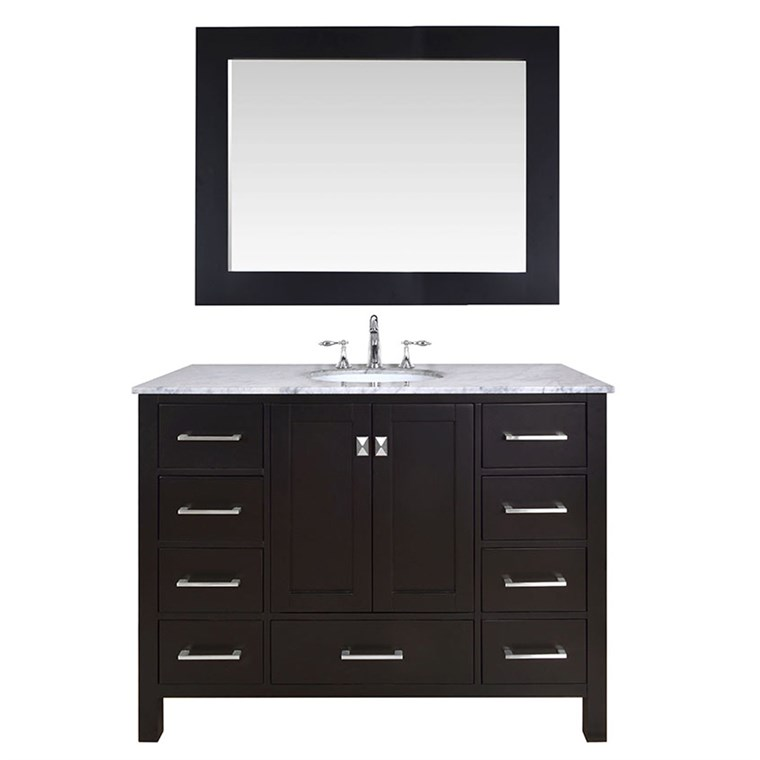 "Stufurhome 48"" Lissa Single Sink Bathroom Vanity - Espresso GM-6412-48-ESP"