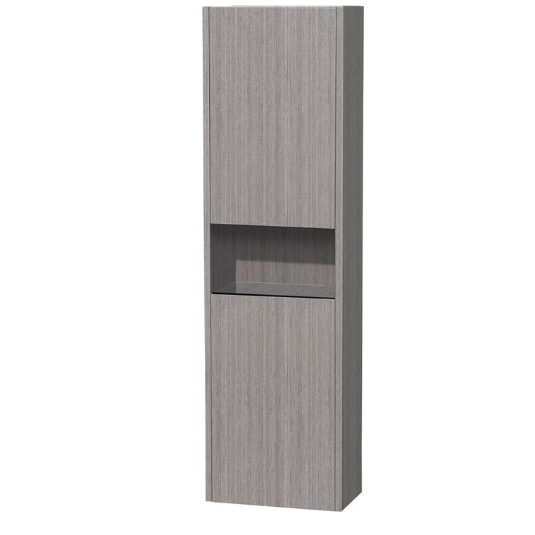 Diana Wall Cabinet by Wyndham Collection - Gray Oak WC-V203-GROAK