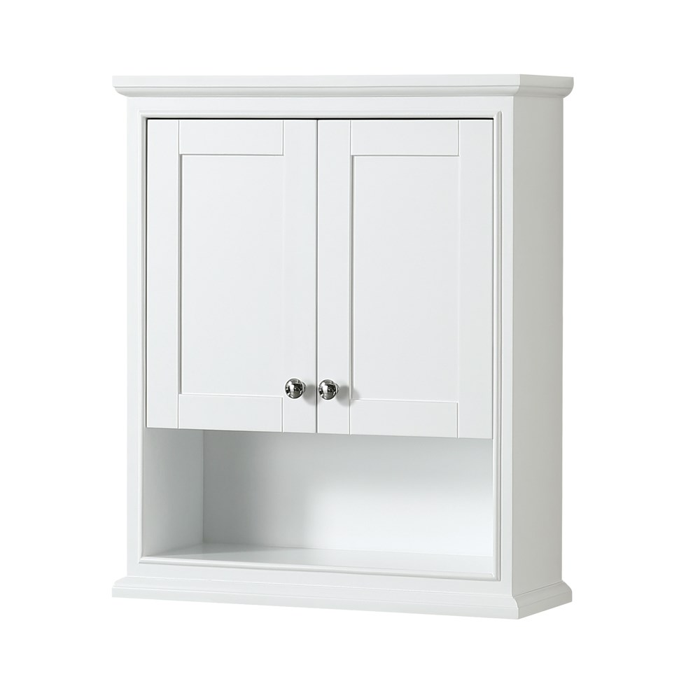 Deborah Over Toilet Wall Cabinet By Wyndham Collection White Free Shipping Modern Bathroom