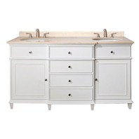 "Avanity Windsor 60"" Vanity Only - White AVA11401-60-WHT"