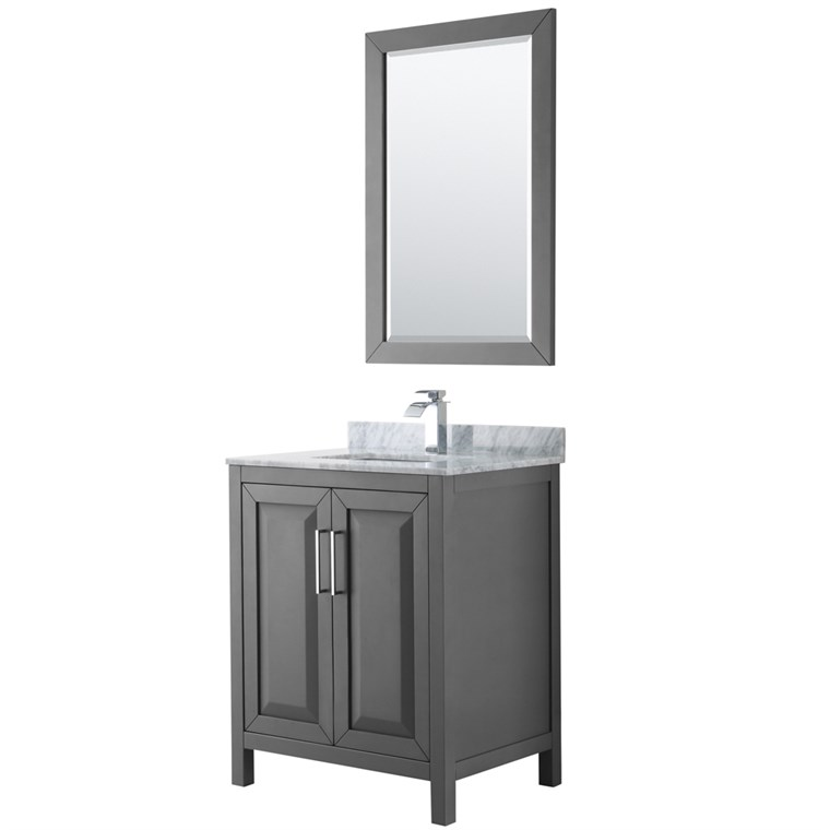"Daria 30"" Single Bathroom Vanity by Wyndham Collection - Dark Gray WC-2525-30-SGL-VAN-DKG"