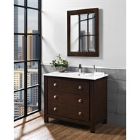 "Fairmont Designs Uptown 42"" Vanity for Integrated Sinktop - Espresso 1519-V42-"