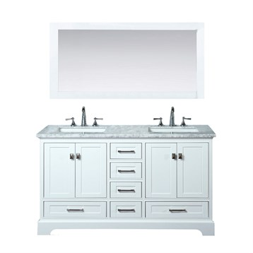 60 double sink bathroom vanity. Stufurhome Newport White 60  Double Sink Bathroom Vanity With Mirror Free Shipping Modern